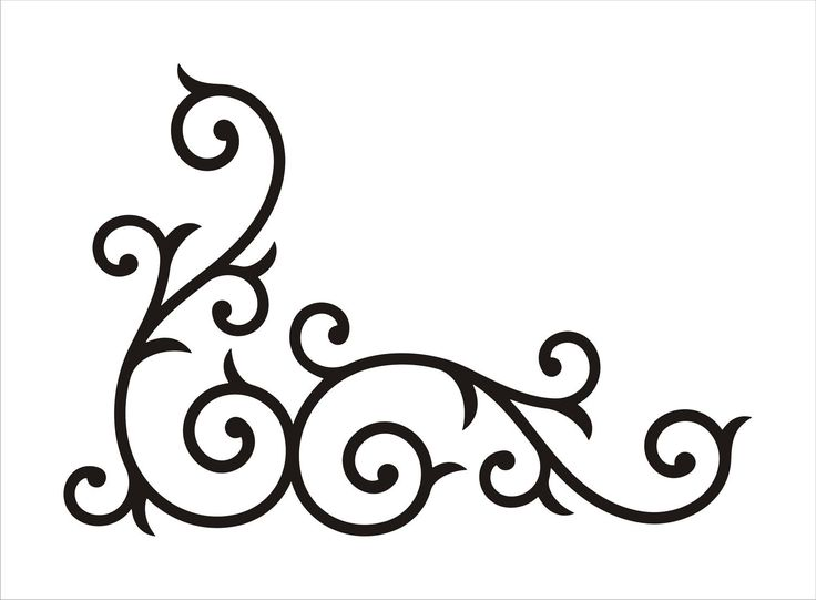 Wrought Iron Corner Swirl MEDIUM by AbbysVinylWallArt on Etsy