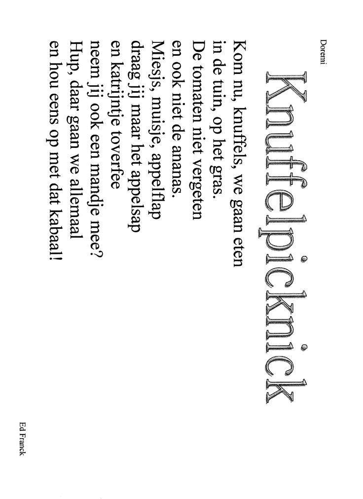 versje knuffelpicknick