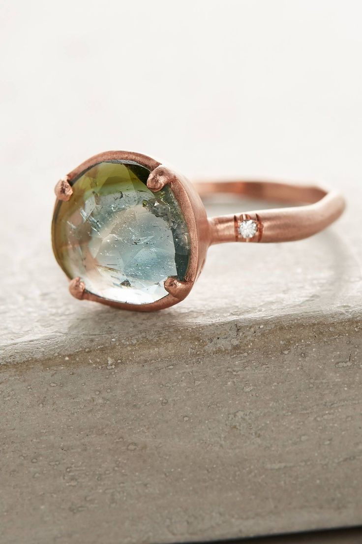 One-Of-A-Kind Watermelon Tourmaline Ring