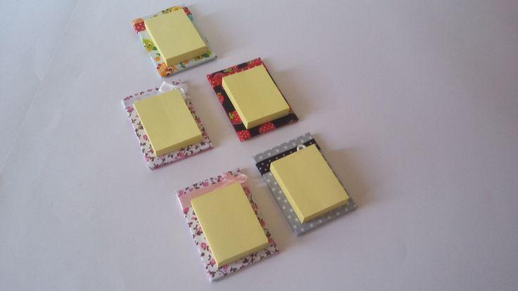 Bloquinhos post it (3,5x5) para lembrançinhas ou brindes - tamanho final: 8x5 R$3,50 cada