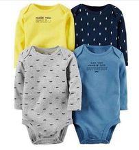 4 unidades de un conjunto recién nacido de manga larga bebes girl clothing chica chico original clothing set al por mayor del muchacho del bebé bodysuit(China (Mainland))