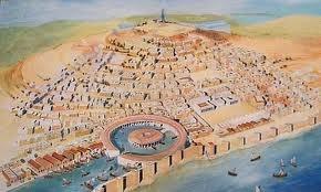 Fundada por um povo marítimo conhecido como os fenícios, a antiga cidade de Cartago, localizada na moderna Tunísia, foi um importante centro de comércio e de influência no Mediterrâneo ocidental. A cidade travou uma série de guerras contra Roma, que acabaria por levar à sua destruição.