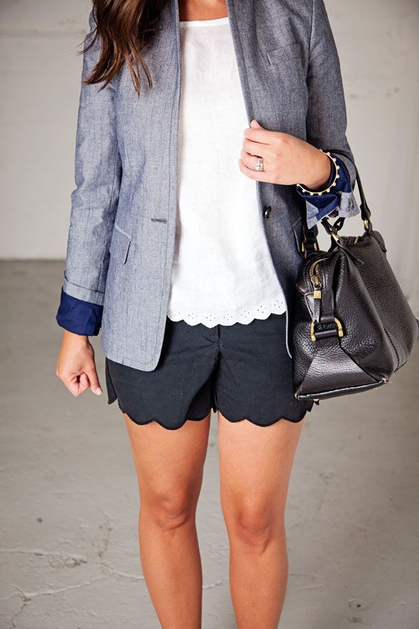 jillgg's good life (for less) | a style blog: my everyday style: a chambray blazer (pt 2)!