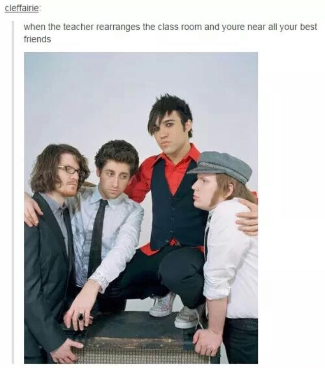 the fact that the pic is of fall out boy makes this 40000 times better