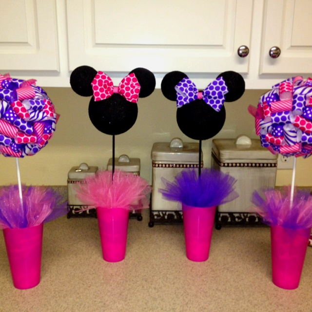 Minnie party centerpieces kids parties girl