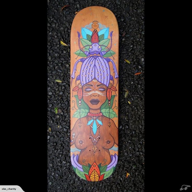 """""""Dilga"""" Hand Painted Skateboard - Christie Wright 