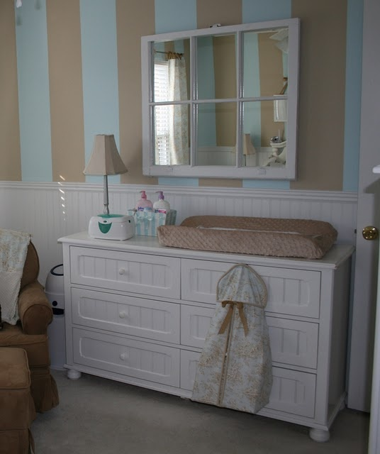 Old window?, mirror?: Old Window Frames, Wall Colors, Idea, Boys Nurseries, Baby Boys Rooms, Old Windows, Old Window Projects, Baby Rooms, Window Mirror