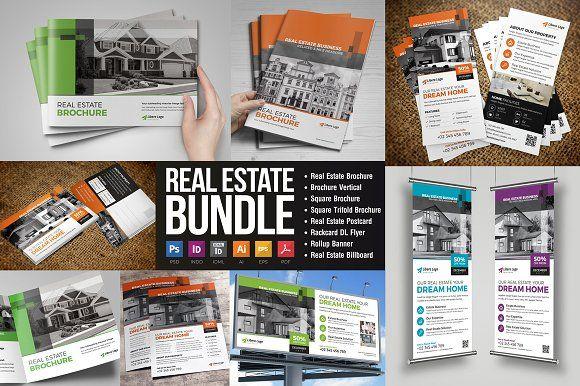Real Estate Bundle Brochure Design Print Design Template Double Sided Flyer