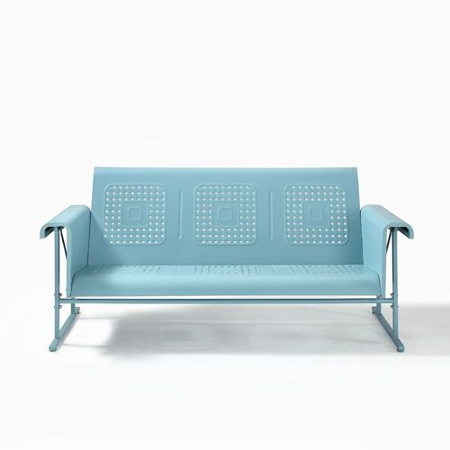 Veranda Sofa Glider In Caribbean Blue Crosley Furniture Sofas Sofas & Sectionals Living Ro