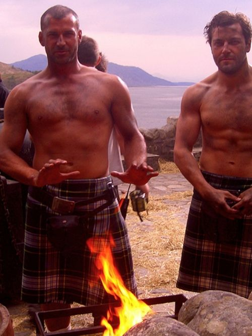Um, I don't have a problem with these guys wearing their kilts to the party, do you? :)