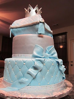 MoniCakes: Little Prince Baby Shower Cake with Pillow and Crown