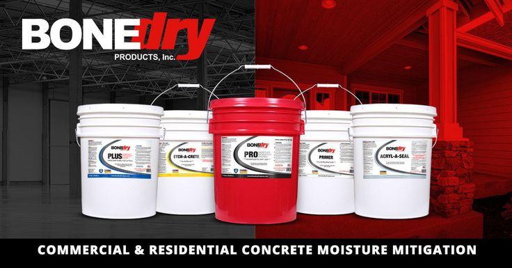 Bone Dry Permanent Concrete Sealers provide a