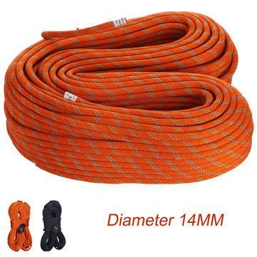 Camping Hiking Rope Diameter 14mm 1M Static Safety Rope Cord Rescue String For Caving Downhill Protection