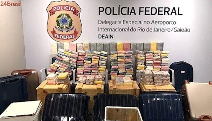 A maior apreensão no Galeão | PF apreende 250 quilos de cocaína no aeroporto internacional do Rio