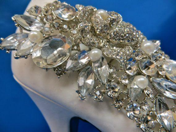 Zapatos de diamante de imitación zapatos de boda por ctroum en Etsy