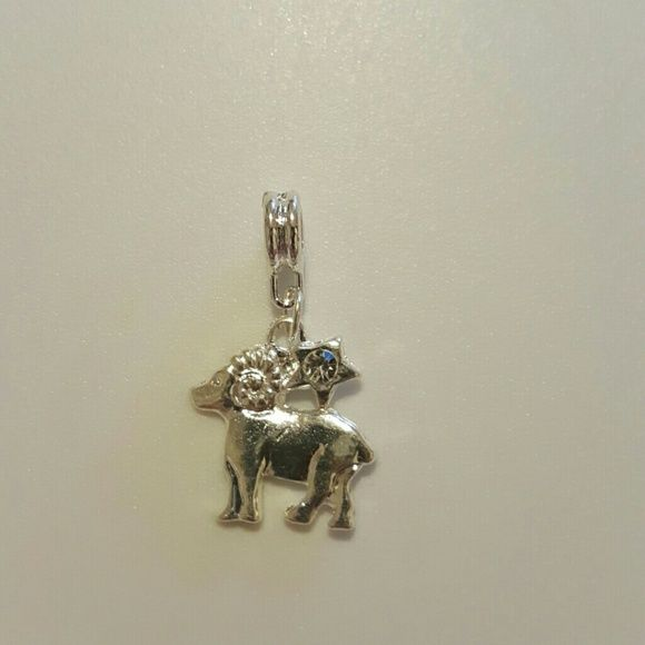 Aries Charm/Pendant Zodiac sign for March 21- April 20, it fits a Pandora bracelet or necklace with hole size of 1mm, it's purely made of zinc alloy. It doesn't tarnish. It has white rhinestone Jewelry
