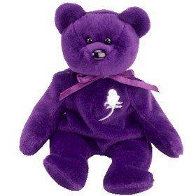 Princess the Purple Teddy Bear (Princess Diana) - MWMT Ty Beanie ...