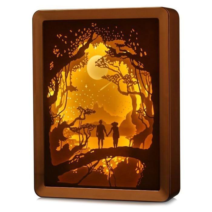 3d Shadow Paper Carving Art Night Lamp Paper Carving Night Art Lamp