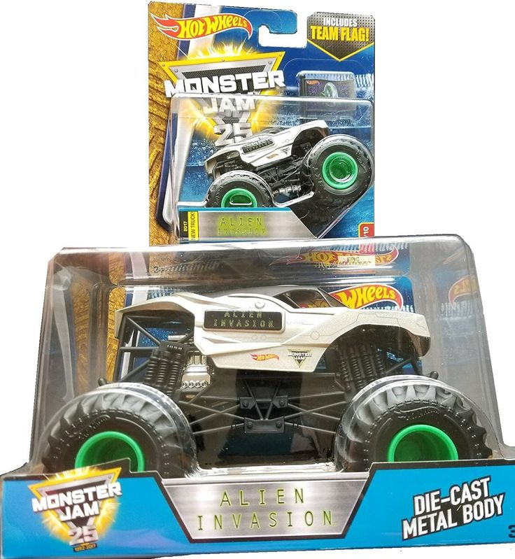 Amazon.com: 2017 Hot Wheels Monster Jam 1:64 Scale & 1:24 Scale - Alien Invasion: Toys & Games