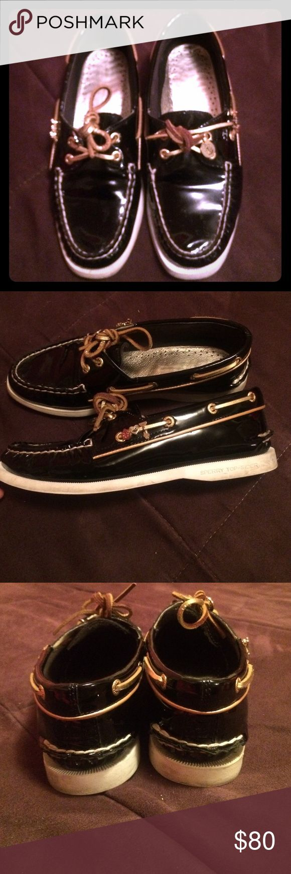 Black Sperry Shoes Black patent leather shoes Sperry Top-Sider Shoes Flats & Loafers