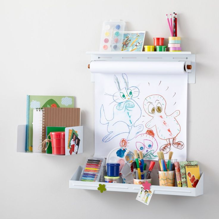 Kids Shelving: White Wall Shelves and Bins | The Land of Nod