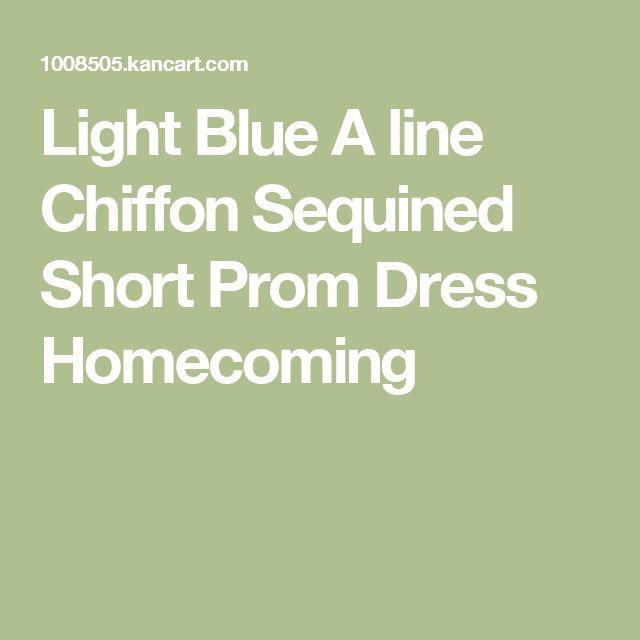 Light Blue A line Chiffon Sequined Short Prom Dress Homecoming