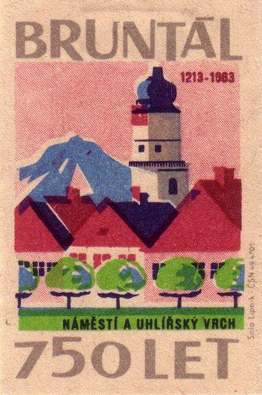 Bruntál - 750 year anniversary #vintage #graphic #illustration