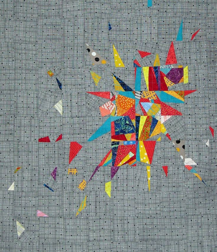 Stash Explosion by Sally Wingo. 2017 Baltimore Heritage Quilt Guild show. Photo by Quilting on the Line.
