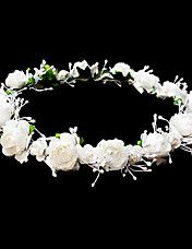 hoofddeksels bruiloft bloem meisje krans met mooie bloemen