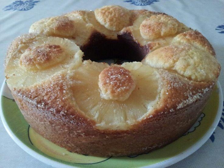 Torta all'ananas ananas con farina di cocco nel fornetto Versilia!!!!