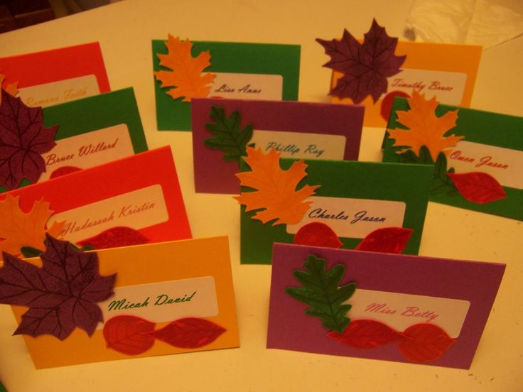 Thanksgiving name cards - great project for the kids