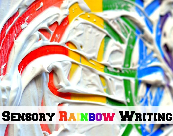 Sensory Rainbow Writing