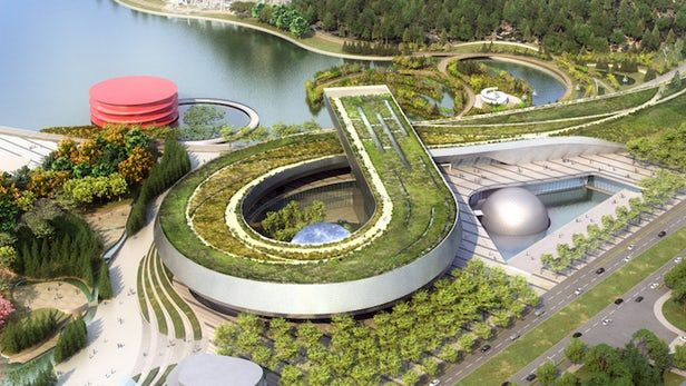 #Architecture: Perkins+Will plans looping green-roofed museum for China.
