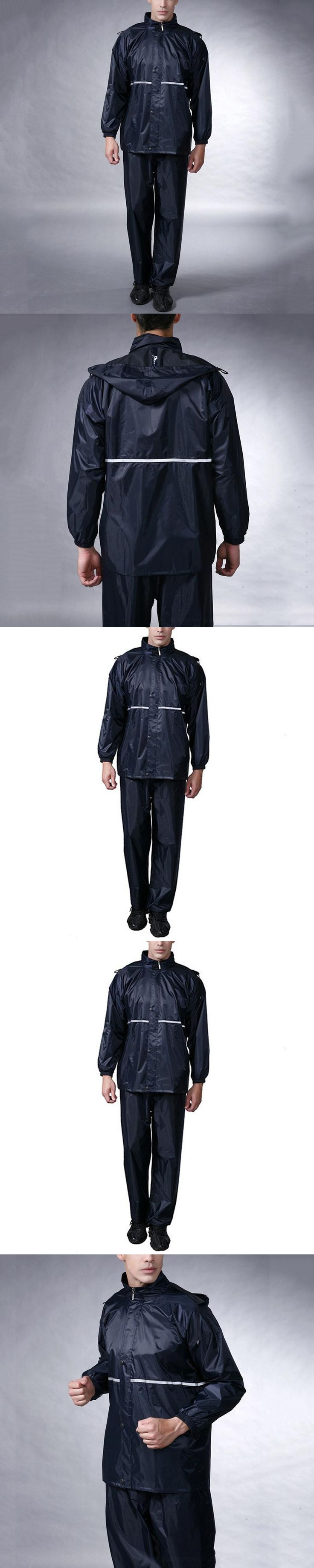 High Quality Unisex Raincoat Suit Electric Bicycle Motorcycle Rainwear Waterproof Rain Jacket Trousers Size XL-4XL
