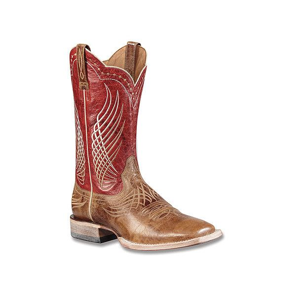 Ariat Mecate Boots ($240) ❤ liked on Polyvore featuring men's fashion, men's shoes, men's boots, ariat mens shoes, mens western boots, mens tan boots, mens tan leather shoes and mens cowboy boots