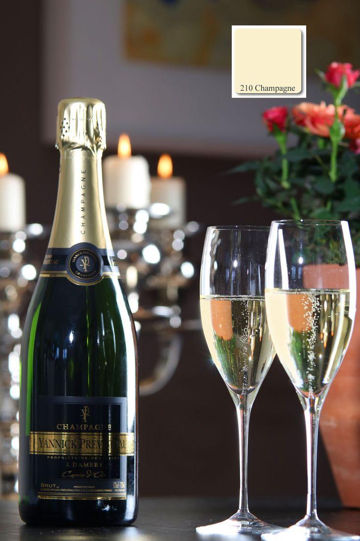 Farbton No. 210 der apprico Colours: Champagne (Element Erde)  #fengshui #appricoColours