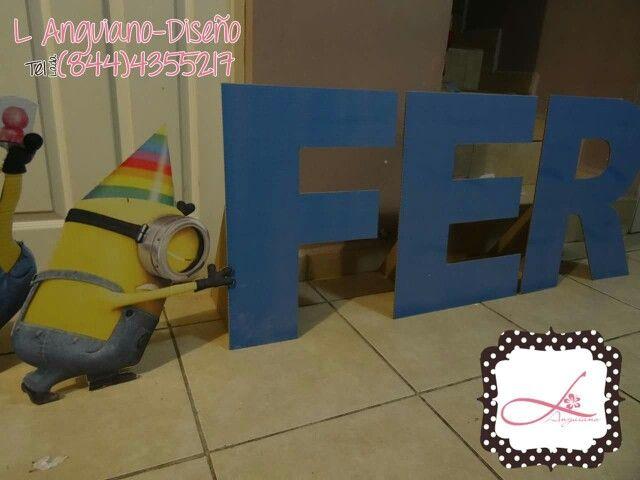 Display personalizado de letras para decoración de fiestas... By Linda Anguiano... Envíos a toda la Republica Mexicana