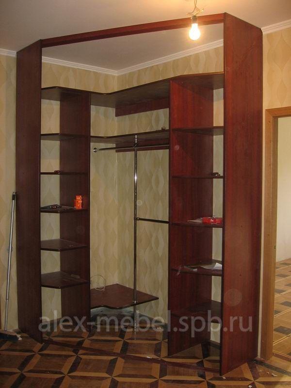 Угловой шкаф-купе для спальни 125x125х240(н) см шкафы-купе в.