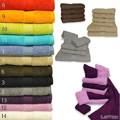 HANDTUCH SET 4tlg, 5 tlg, 6tlg oder 10tlg Duschtuch, Handtuch 550g DELUXE