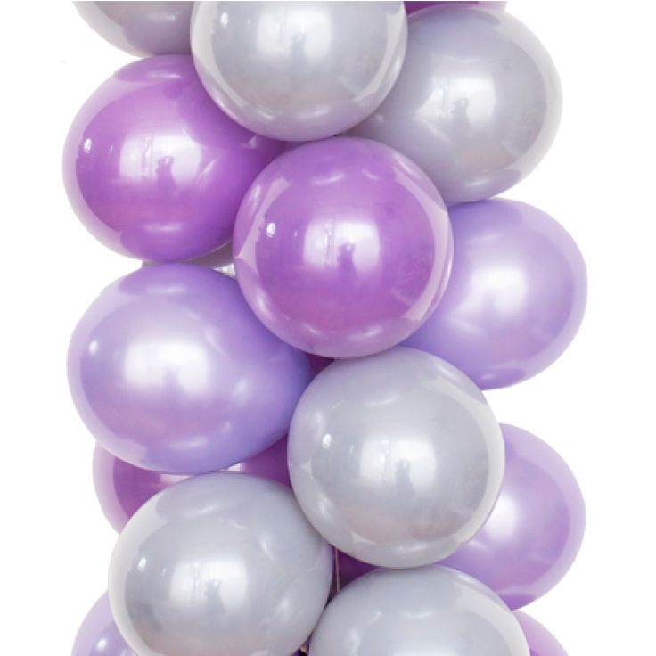 Luft Balloon's WISTERIA palette includes subtle gray, pearl lilac and lavender. Balloons perfect for that garden baby shower or bridal shower.