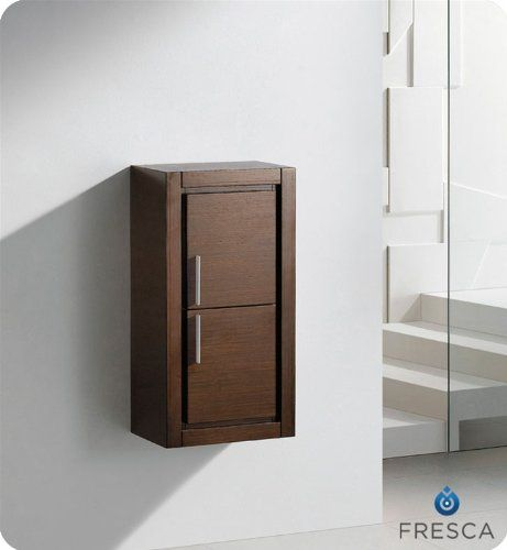 fresca wall mounted bathroom linen cabinet with two doors wenge brown bathroom cabinets linen towers linen tower
