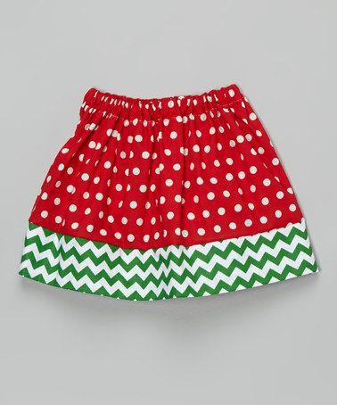 Look at this #zulilyfind! Red Polka Dot Christmas Twirl Skirt - Infant, Toddler & Girls #zulilyfinds
