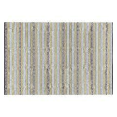 AGNES Small blue stripe cotton rug 120 x 180cm