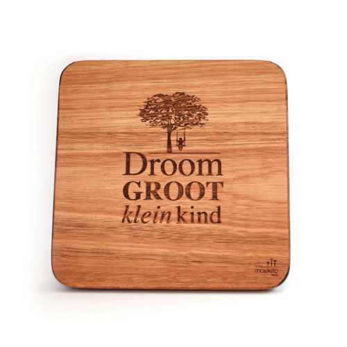 """Droom groot klein kind"". Inspiring words depicted by a lovely, calming design for a nursery or a kid's room."