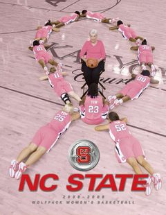 The late, great, Coach Kay Yow - NC State This would make a sweet team photo for pink out games!