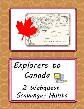 Explorers to Canada - Webquest Scavenger Hunt Activities