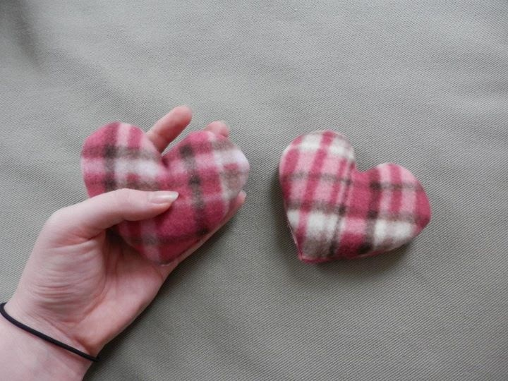 Fleece Pocket Heart Hand Warmers for texscrapper in the OWS78