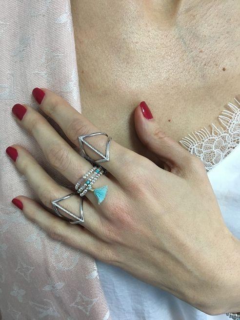 Pierścionek Jump Agat Turkus - Selfie Jewellery - Sklep Internetowy