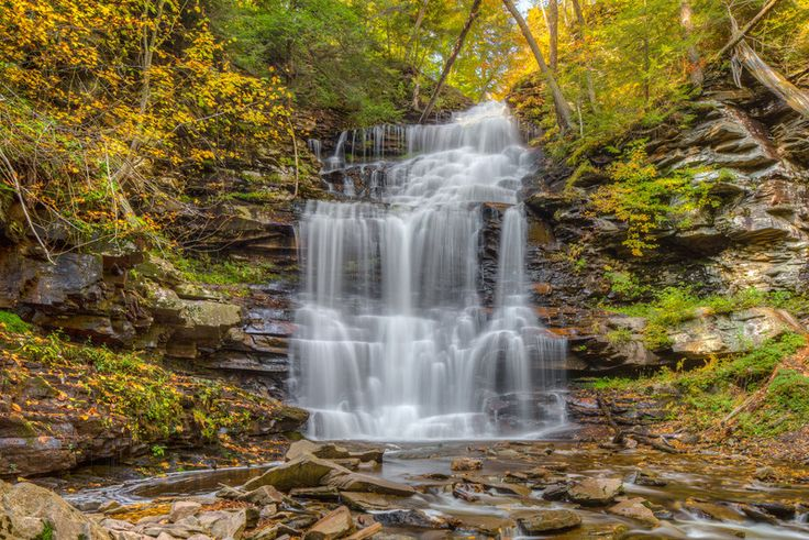 These waterfall hikes, within a few hours of Philadelphia, Pennsylvania, offer some of the best views on the east coast.