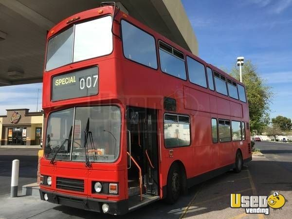 Leyland Olympian Double Decker Bus | Used Limos & Stretch Limousine for Sale: Double decker London-style bus for sale in California! Could be used to create a very unique mobile kitchen or party bus! Plenty of seating and music systems for a fun and exciting business venture! See details for more information.